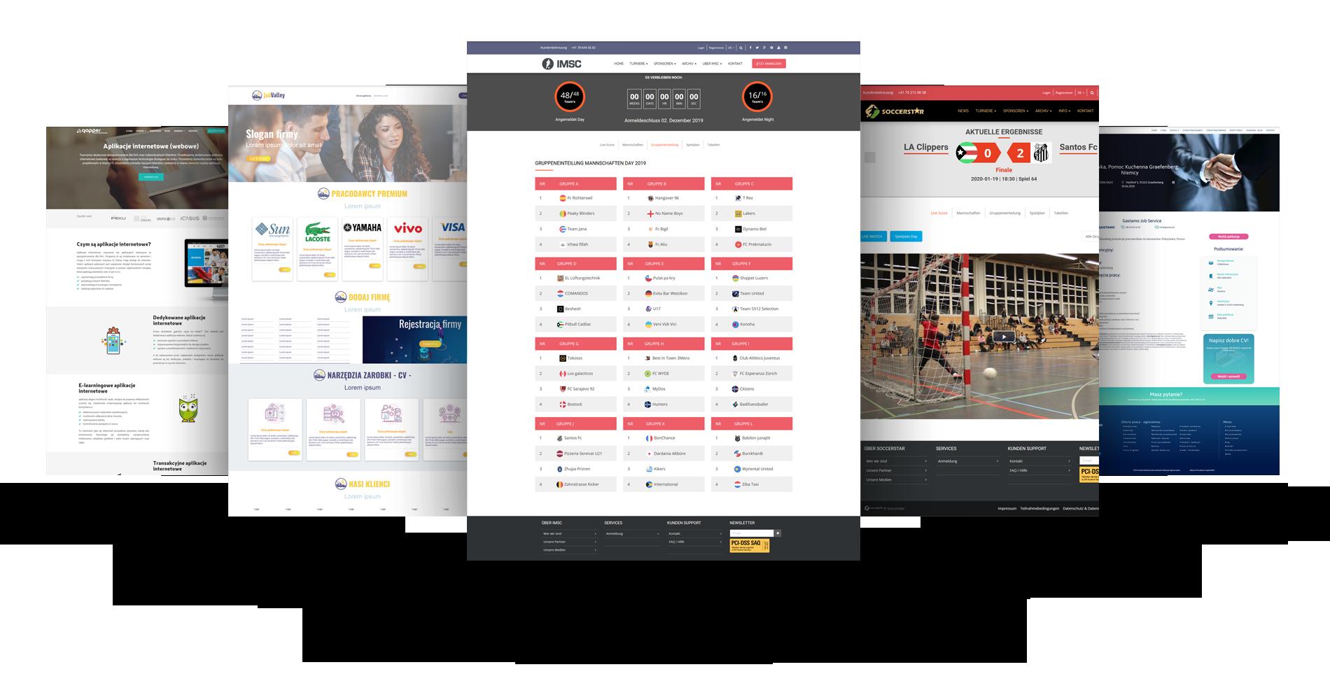 Aplikacje webowe - internetowe projekty
